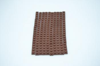 Preview: LEGO 50 x Basisplatte 1x4 rotbraun reddish brown basic plate 3710 4211190