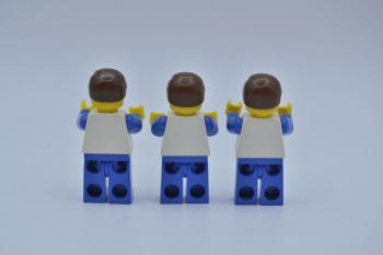 Preview: LEGO 3 x Figur Minifigur Vertical Lines Red & Blue ver001