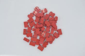Preview: LEGO 50 x Basisstein 1x2 rot red basic brick 3004 300421 4613961