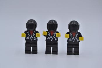 Preview: LEGO 3 x Figur Minifigur classic town lea005 leather jacket with zippers