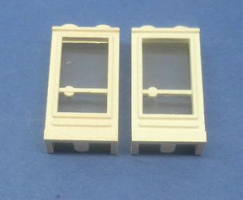 Preview: LEGO 2 x Tür Rahmen weiß 1x2x3 Griff links white old door handle left 33bc01