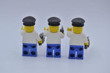 Mobile Preview: LEGO 3 x Figur Minifigur Arbeiter ovr015 worker classic town city