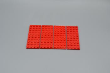 Preview: LEGO 4 x Basisplatte 4x10 rot red basic plate 3030 303021