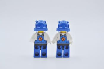 Preview: LEGO 2 x Figur Minifigur pm007 Brains Power Miners aus Set 8957