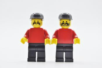 Preview: LEGO 2 x Figur Minifigur Fußball Fan Soccer Player Fan soc007 aus Set 3403