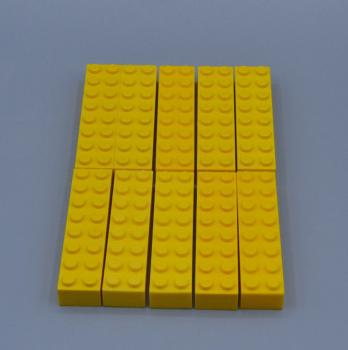 Mobile Preview: LEGO 10 x Basisstein 2x8 gelb yellow basic brick 3007 300724 4639693