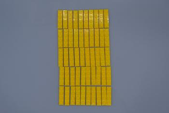 Preview: LEGO 50 x Basisplatte 1x4 gelb yellow basic plate 3710 371024