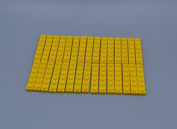 Preview: LEGO 30 x Basisplatte 1x6 gelb yellow basic plate 3666 366624