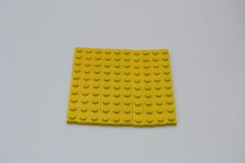 Preview: LEGO 10 x Basisplatte 1x10 gelb yellow plate 4477 447724 6079138
