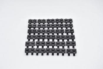 Preview: LEGO 30 x Platte 1x2 mit 2 Clips schwarz plate with two clips black 60470