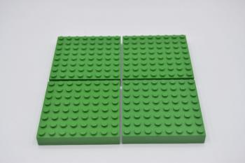 Preview: LEGO 4 x Bauplatte 8x8 dick grün green thick basic plate 4201