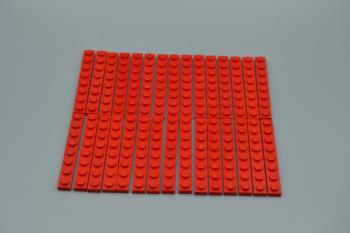 Preview: LEGO 30 x Basisplatte 1x8 rot red basic plate 3460 346021