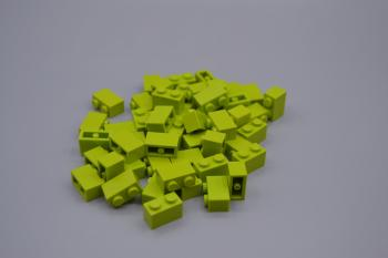 Preview: LEGO 50 x Basisstein 1x2 lime grün lime green basic brick 3004 4164022