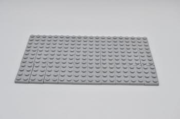 Preview: LEGO 30 x Basisplatte neuhell grau Light Bluish Gray Plate 2x4 3020