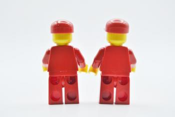 Preview: LEGO 2 x Figur Minifigur F1 Ferrari Truck Driver without Torso Sticker rac026
