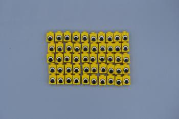 Mobile Preview: LEGO 50 x Stein 1x1 bedruckt Auge gelb yellow printed brick 3005pe1