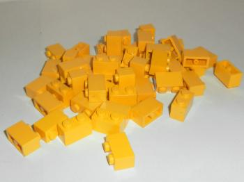 Preview: LEGO 50 x Basisstein gelb 1x2 yellow basic brick 3004 300424 4613966