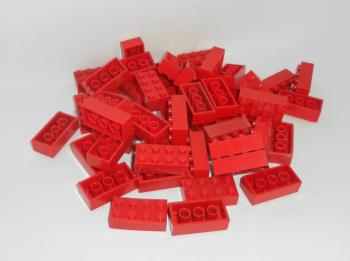 Preview: LEGO 50 x Basisstein 2x4 rot red basic brick 3001 300121