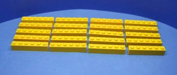 Mobile Preview: LEGO 20 x Basisstein 1x6 gelb yellow basic brick 3009 300924