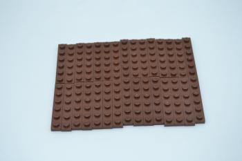 Preview: LEGO 30 x Basisplatte 1x6 rotbraun reddish brown basic plate 3666 4221590