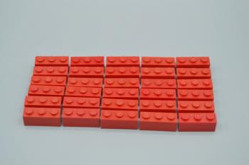 Preview: LEGO 30 x Basisstein 1x3 rot red basic brick 3622 362221