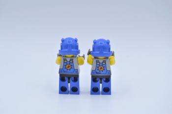 Preview: LEGO 2 x Figur Minifigur Power Miners Orange Scar 2 Gesichter pm011 8709 8958