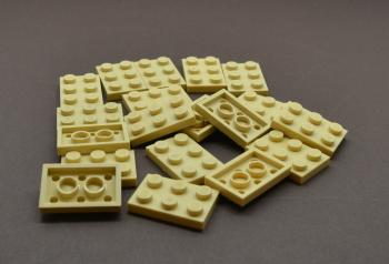 Preview: LEGO 20 x Basisplatte 2x3 beige tan basic plate 3021 30215 4118790