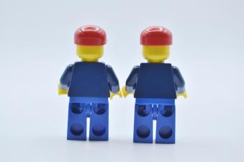 Preview: LEGO 2 x Figur Minifigur City Town twn035 Passagier Train Passenger aus Set 7897