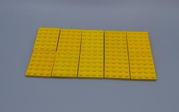 Preview: LEGO 10 x Basisplatte 4x6 gelb yellow basic plate 3032 303224