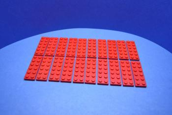 Preview: LEGO 20 x Basisplatte 2x6 rot red basic plate 3795 379521