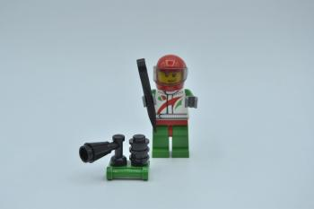 Preview: LEGO Figur Minifigur Octan Race Car Driver Octan cty435 aus Set 60024