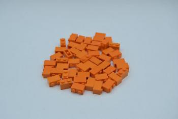Preview: LEGO 50 x Basisstein 1x2 orange orange basic brick 3004 4121739 4613981