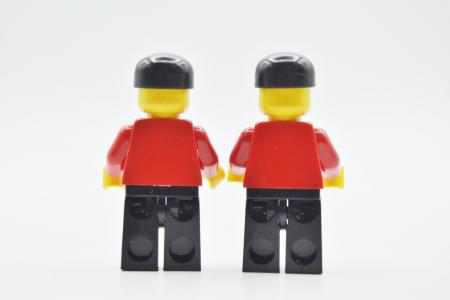 LEGO 2 x Figur Minifigur Fußball Fan Soccer Player Fan soc007 aus Set 3403