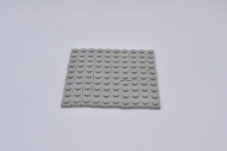 LEGO 50 x Platte 1x2 althell grau oldgrey gray plate vintage 3023 302302