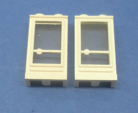 LEGO 2 x Tür Rahmen weiß 1x2x3 Griff links white old door handle left 33bc01