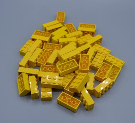 LEGO 50 x Basisstein 2x4 gelb yellow basic brick 3001 300124