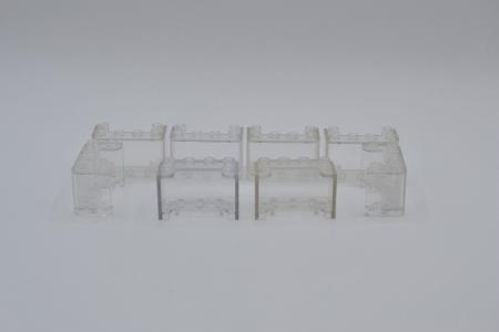 LEGO 8 x Windschutz 2x4x2 transparent klar transparent clear windscreen 4594