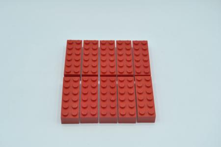 LEGO 10 x Basisstein 2x6 rot red basic brick 2456 4181138 44237