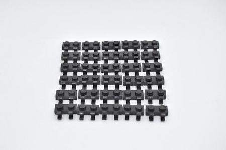 LEGO 30 x Platte 1x2 mit 2 Clips schwarz plate with two clips black 60470