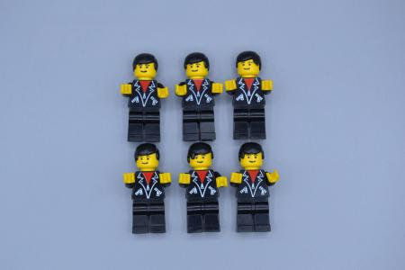LEGO 6 x Figur Minifig Leather Jacket with Zippers lea001 Town aus Set 6561