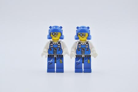 LEGO 2 x Figur Minifigur pm007 Brains Power Miners aus Set 8957