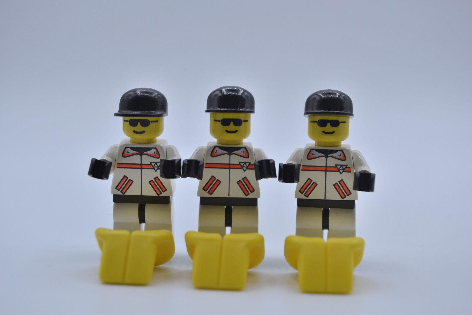 LEGO 3 x Figur Minifigur Res-Q 1 Cap schwarz Weste gelb rsq003 aus Set 6479 6451