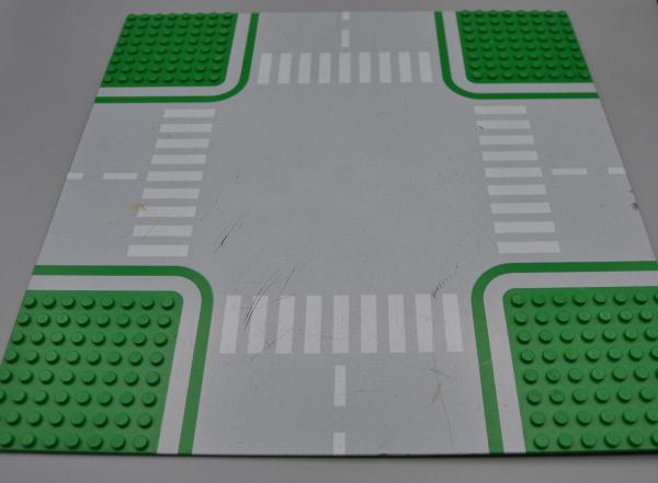 Baukästen & Konstruktion LEGO 1 x Platte 32x32 Strasse Kreuzung grün 611p01 Rasen Stadt City Grund 6323 Spielzeug