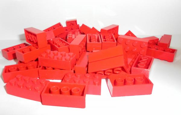 LEGO 50 x Basisstein 2x4 rot red basic brick 3001 300121