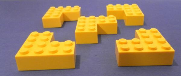 LEGO Bau- & Konstruktionsspielzeug Baukästen & Konstruktion Lego 4x Flach Rund Platte Rund Inverted Glatt 2x2 Durchsichtig Clear 2654 Neu