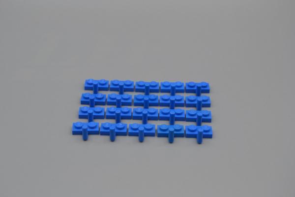hook 4623 462323 LEGO 20 x Platte 1x2 mit Haken blau blue plate w LEGO Bausteine & Bauzubehör