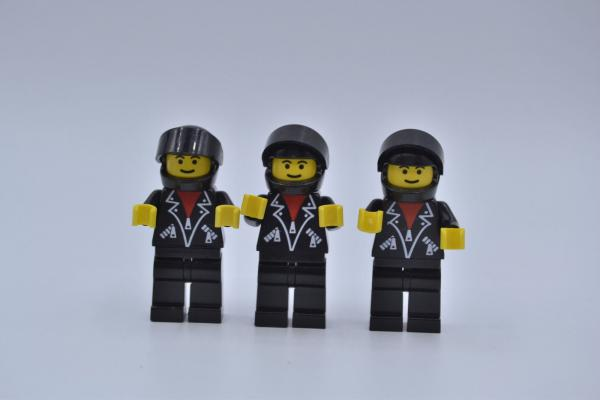 LEGO 3 x Figur Minifigur classic town lea005 leather jacket with zippers