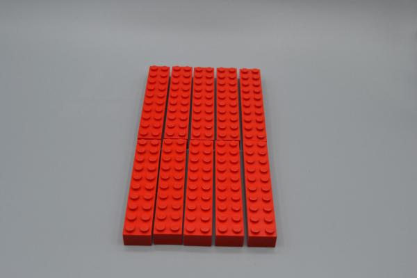 LEGO 10 x Basisstein 2x10 rot red basic brick 3006 300621 4617857