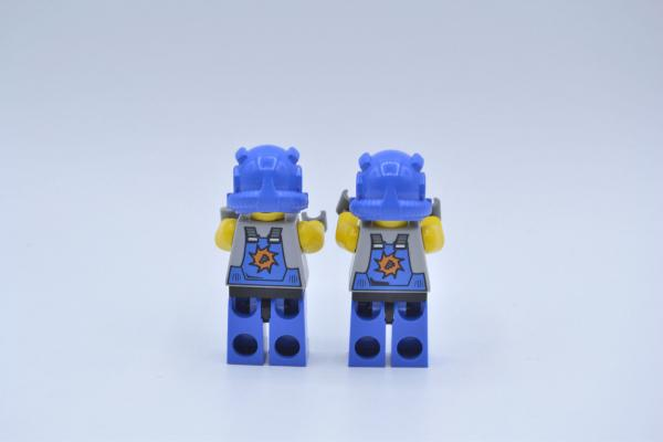 LEGO 2 x Figur Minifigur Power Miners Orange Scar 2 Gesichter pm011 8709 8958